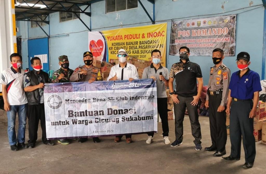 Kepedulian MBSL CI Kepada Korban Banjir Bandang Sukabumi