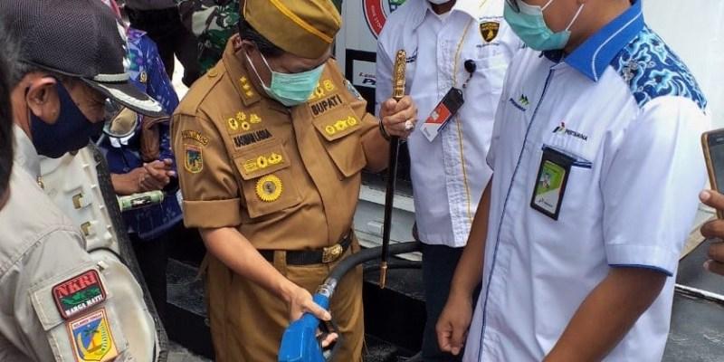 Bupati Donggala Resmikan Langsung Pertashop ke-8 di Sulteng