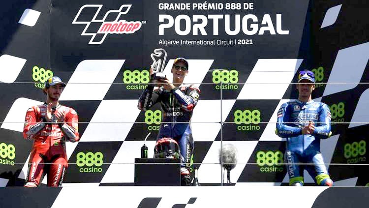 MotoGP Portugal, Quartararo Kembali Podium Pertama