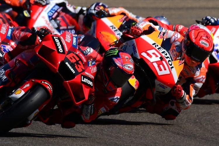 Serunya Duel Bagnaia vs Marquez di MotoGP Aragon