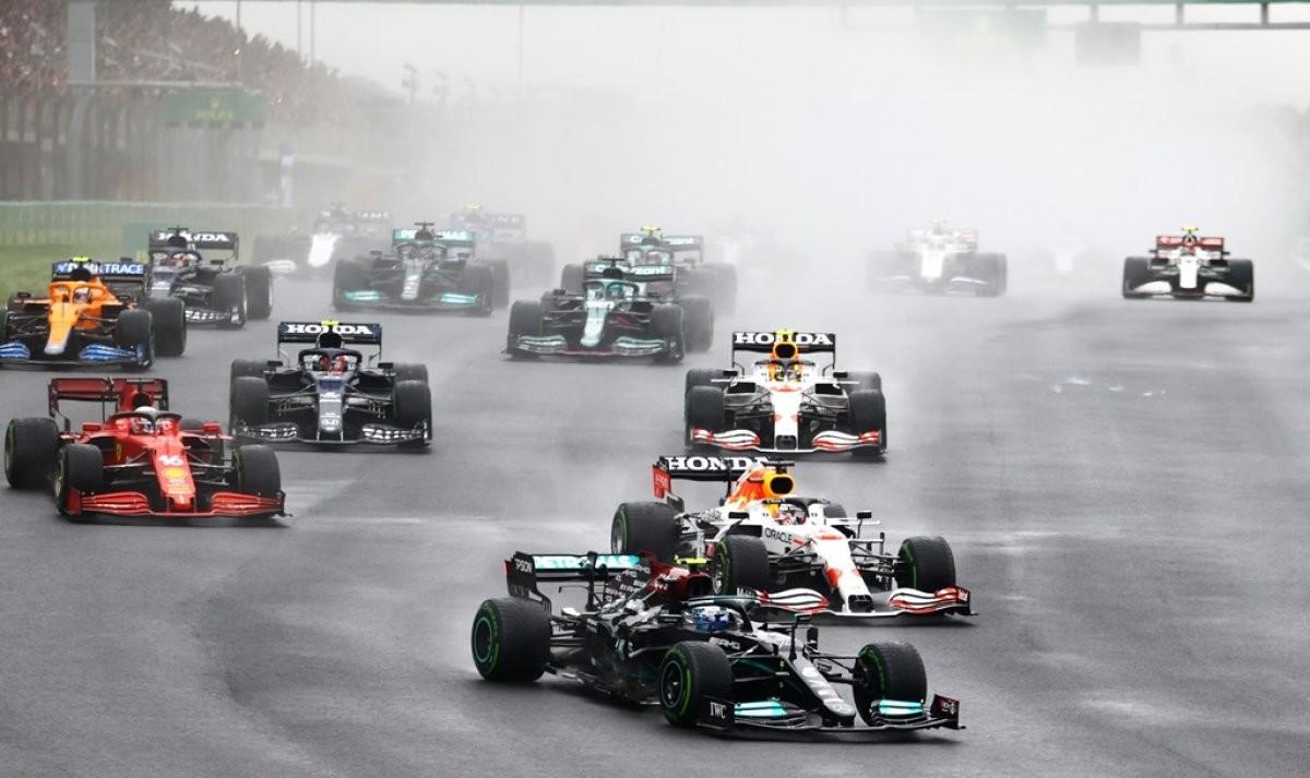 Balapan F1 GP Turki 2021, Valtteri Bottas Podium Pertama