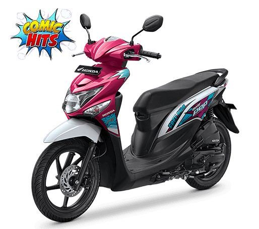 honda-beat-pop-comic-hits-voice-magenta-white-putih-2016