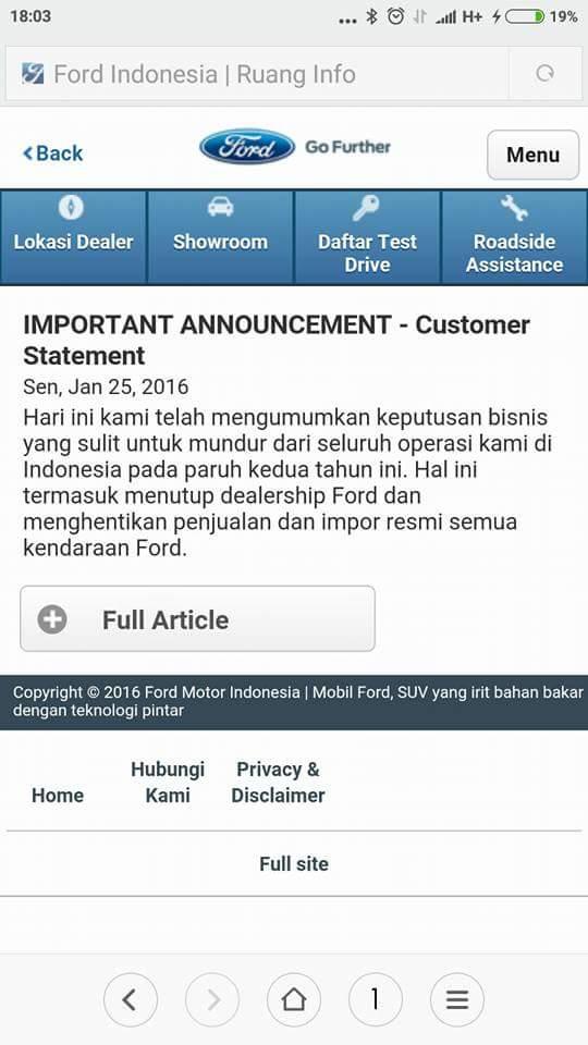 announcement ford hengkang