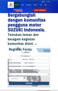 halaman komunitas pengguna suzuki otoborn