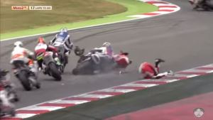 DImas Ekky Crash FIM CEV Moto2 Catalunya Barcelona 2016