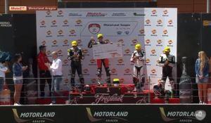 Podium Race1 Moto2 4 FIM CEV Repsol 2016