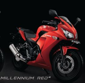 Honda CBR 250R Single Millenium Red