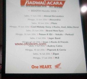 jadwal acara rumah honda jakarta fair 2016