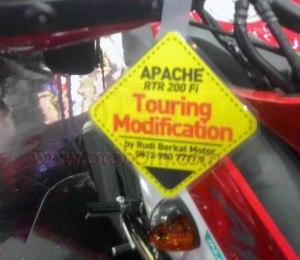 TVS Apache RTR200 touring berkat motor