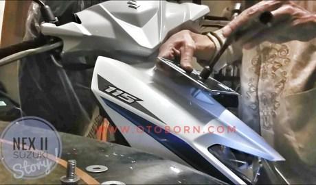 Pasang Plat Nomor Siput Suzuki Nex II