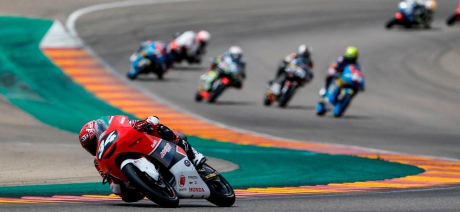 Mario Finis Sepuluh Besar CEV Moto3 Junior World Championship Seri Spanyol