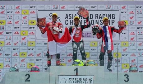 Keren! Pertama Balapan di China Pembalap Indonesia Dapat 3 Kali Podium !