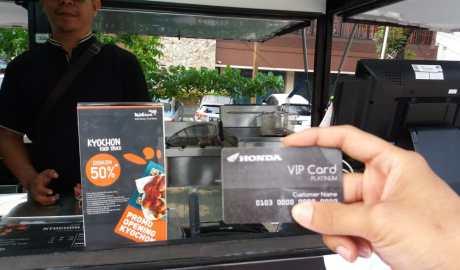 Makan enak murah Honda VIP Card