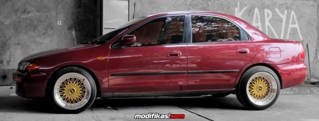 5 Modifikasi Sedan Mazda Familia 232 Terbaru
