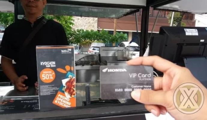 Pemegang Kartu Honda VIP Card dapat diskon makan hingga 50 Persen Di Kyochon
