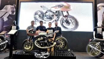 Royal Enfield 'The 30' kustom café racer berbasis Continental GT 650 Hadir Di Kustomfest 2019