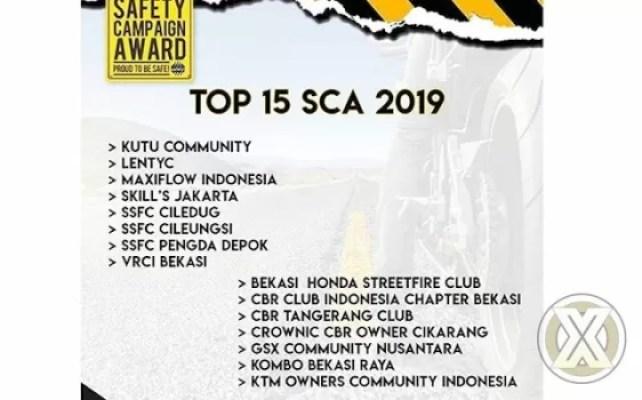 TOP 15 Finalis SCA 2019 dari Klub / Komunitas