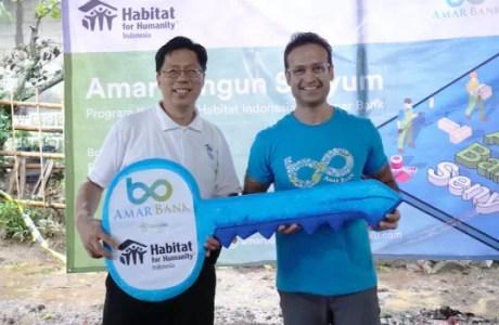 CSR Amar Bank Bangun Senyum Dengan Pembangunan 20 Rumah