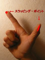 スラップ 指