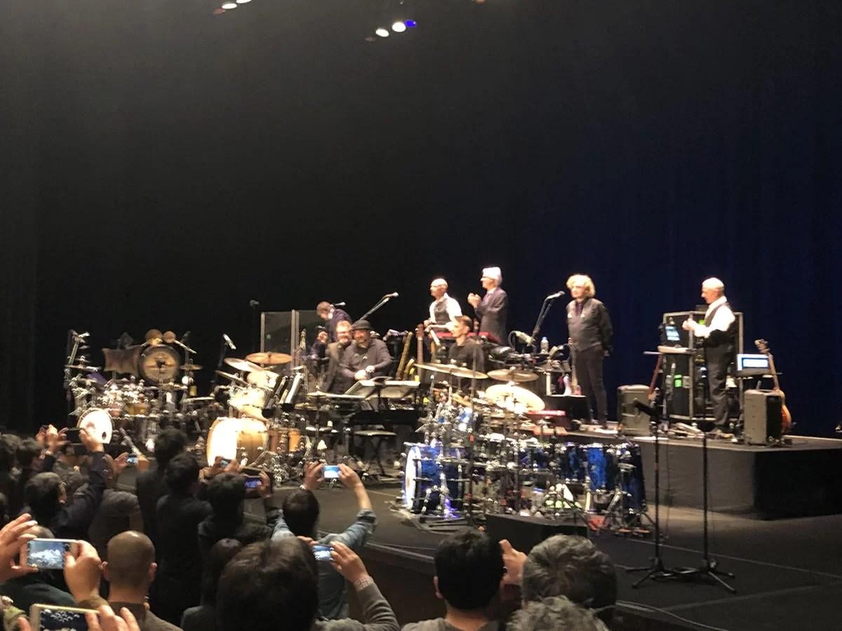 キング・クリムゾンのライブを仙台サンプラザホールで観る。