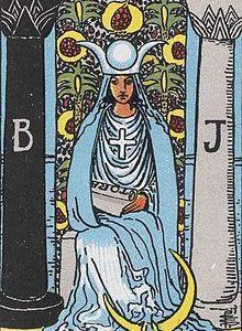 タロットカード「2:女教皇」の意味と解釈【恋愛・復縁・片思い占い方法】