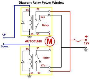 Wiring Diagram Relay Power Window |Rangkaian Relay power window mobil | Belajar Otomotif