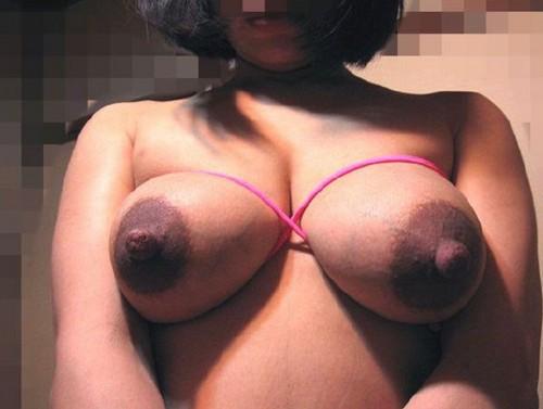 【黒乳首乳輪エロ画像】黒い乳首や乳輪