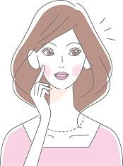 きちんと美白ケアをしている女性のイメージ画像