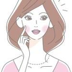 しっかり美容ケアして小顔をキープしている女性