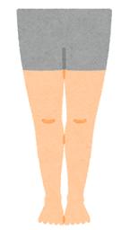 少なくともこのくらいには細くなりたいという女性の脚の画像