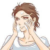 美容石鹸で洗顔するイケメン