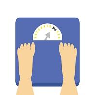 体重が順調に減り続けている画像