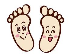 健康的な足の裏のイメージ