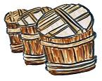 麹を発酵させている樽の画像