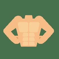 筋肉の付いた理想的な上半身