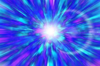 青い閃光のイメージ