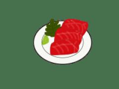 マグロのお刺身の画像