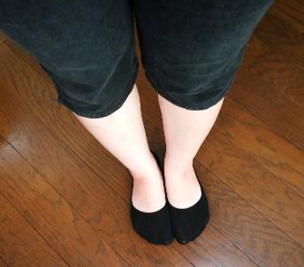 エクスラリアを履く前と比べてすっかり細くなった脚の画像