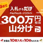 ちょこっと入札するだけ PayPayボーナスライト山分けキャンペーン(ヤフオク!山分け祭り)でコジポ大量ゲット!浸透していない今がチャンス