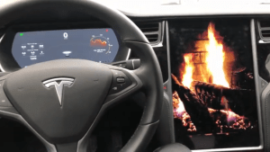tesla fireplace