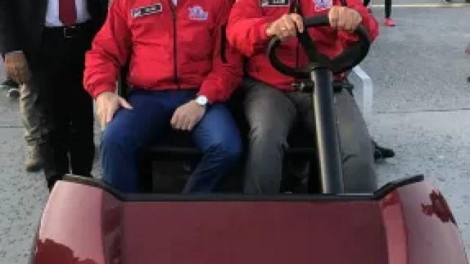 vice president fuat oktay technofesti toggled with tragger t car