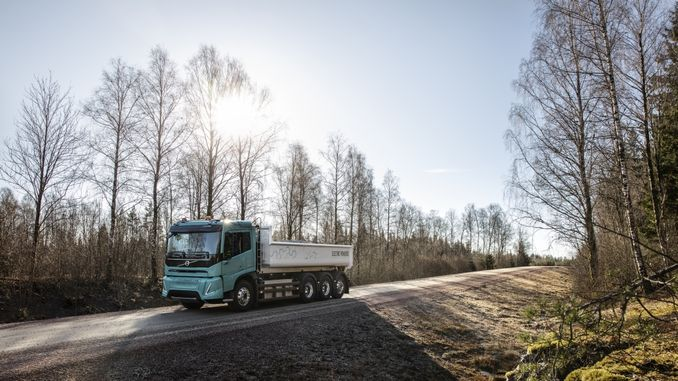volvo kravas automašīnas redz elektriskās kravas automašīnas