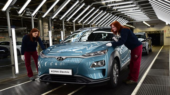 hyundai kona electric starts production in europe