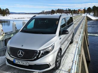 Electric Mercedes Passes EQV Winter Tests