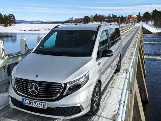 Elektriska Mercedes klarar EQV-vintertester