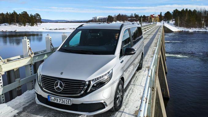 Elektrikli Mercedes EQV Kış Testlerini Geçti