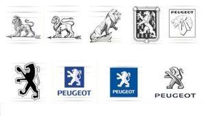 Peugeot logosu Değişimi