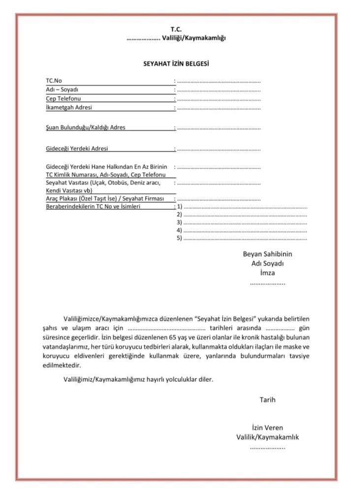 travel permit example