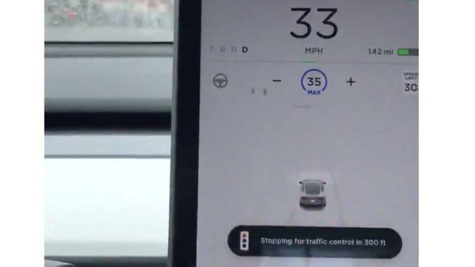 tesla fsd traffic sign recognition