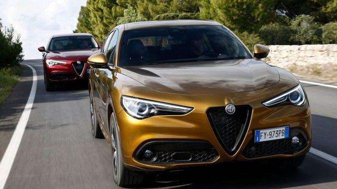 New Alfa Romeo Stelvio yellow red